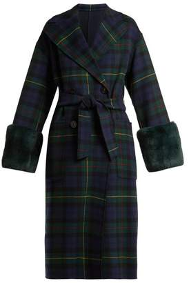 Max Mara Diego Coat - Womens - Navy Multi
