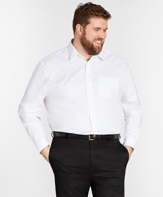 Brooks Brothers Stretch Big & Tall Dress Shirt, Non-Iron Spread Collar