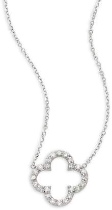 KC Designs Women's Diamond and 14K White Gold Clover Necklace