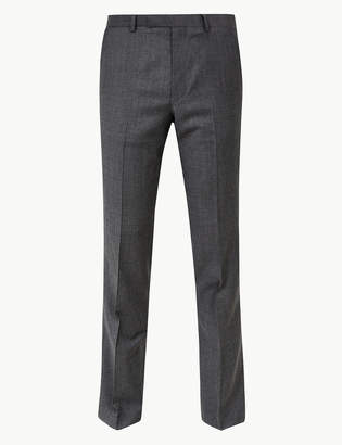 Marks and Spencer Grey Slim Fit Wool Trousers