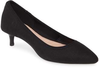Taryn Rose Nicki Pointed Toe Kitten Heel Pump