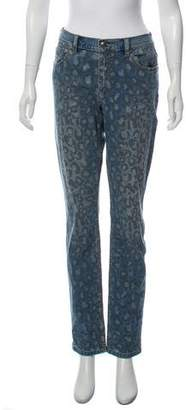 Marc Jacobs Animal Print Mid-Rise Straight-Leg Jeans w/ Tags