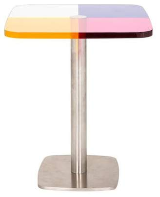 Acrylic Pedestal Accent Table