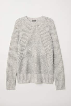 H&M Pattern-knit Sweater - White