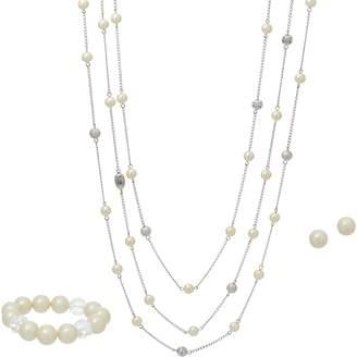 Carolee Soho Simulated Pearl Multi-strand Necklace Set