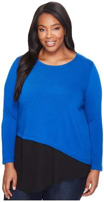 Karen Kane Plus Plus Size Combo Hem Sweater Women's Sweater