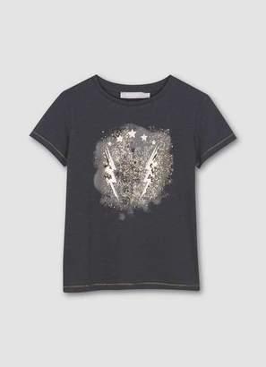 Mint Velvet Charcoal Rock & Roll T-Shirt