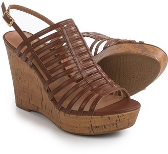 Franco Sarto Sombre Strappy Wedge Sandals - Leather (For Women) $39.99 thestylecure.com