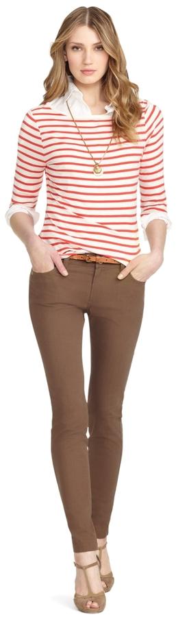 Brooks Brothers Five-Pocket BrookeTM Fit Ankle Length Pants