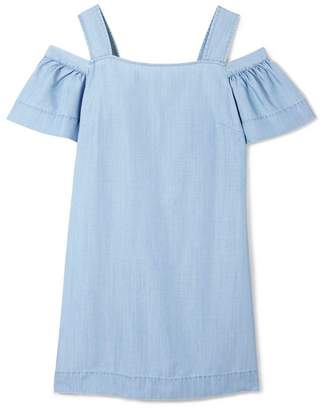 Vince Camuto Chambray Cold-shoulder Dress