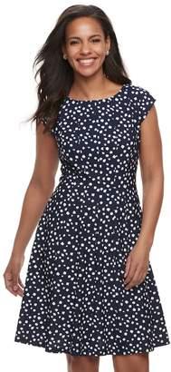Elle Women's Dot Fit & Flare Dress