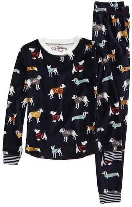PJ Salvage Fitted Print Fleece Two-Piece Pajamas (Toddler Girls, Little Girls & Big Girls)