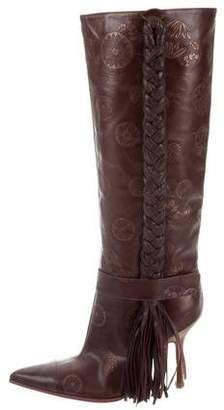 Ungaro Leather Knee-High Boots