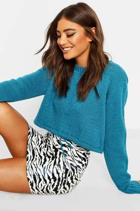 boohoo Ruched Hem Soft Knit Sweater