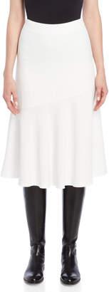 Jil Sander Crepe Ruffle Midi Skirt