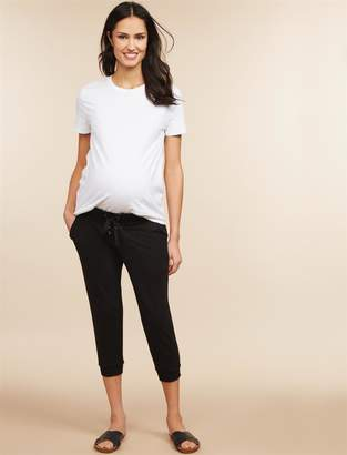 Motherhood Maternity Under Belly French Terry Jogger Maternity Jogger Pant