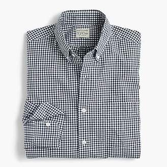 J.Crew Slim stretch Secret Wash shirt in gingham poplin