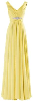 MaliaDress Women Long Chiffon Rhinestone Evening Bridesmaid Dress Prom Gown M160LF US