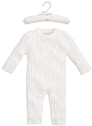 Elegant Baby Unisex Cable-Knit Romper - Baby