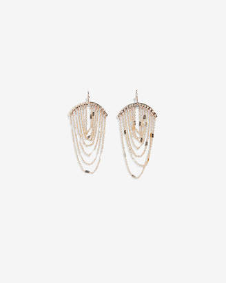 Express Draped Chain Drop Earrings