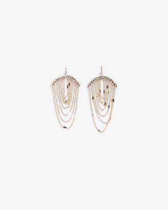Express Draped Chain Drop Earrings