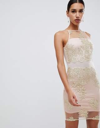 1d39e92655 High Neck Bodycon Dress Ax Paris - ShopStyle UK