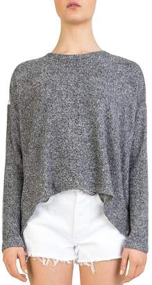 The Kooples Lace-Back Fleece Sweatshirt