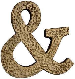Cheungs Metal Ampersand Symbol with Hammered Accents Wall Dcor