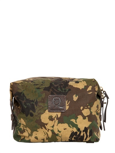 Mcq Alexander Mcqueen - Camouflage Cotton Canvas Toiletry Bag