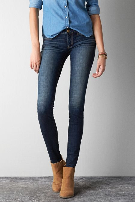 American Eagle Outfitters Tinted Indigo Jegging Jeans