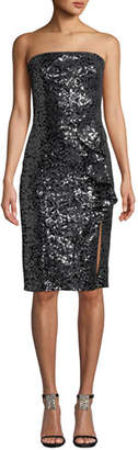 Parker Black Noelle Strapless Sequin Dress