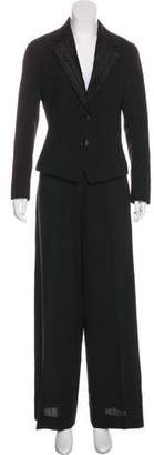 John Galliano Wide-Leg Wool Pantsuit