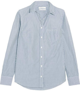 J.Crew - Boy Striped Cotton-poplin Shirt - Navy $70 thestylecure.com