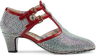 Gucci Crystal T-strap pumps