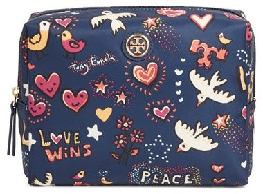 Tory Burch Tory Burch Large Brigitte Cosmetics Case