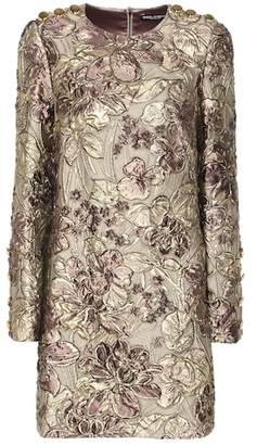 Dolce & Gabbana Metallic cloqué jacquard dress