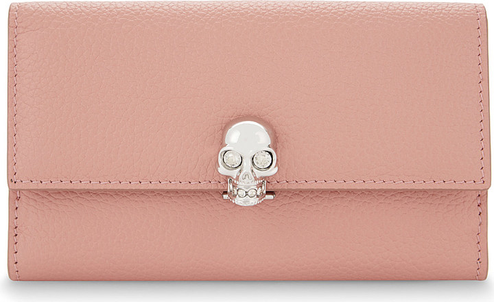 Alexander McQueen Alexander Mcqueen Skull small grained leather purse