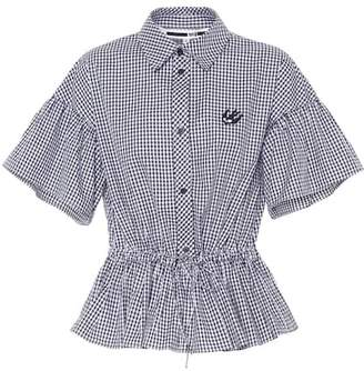 McQ Gingham cotton blouse