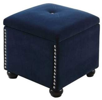 Ore International 16.5 NAVY BLUE SUEDE STORAGE SEATING + 1 SEATING