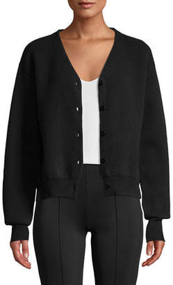 The Row Nesta V-Neck Button-Front Merino Wool Cashmere Cardigan