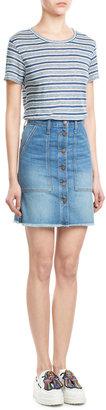 Current/Elliott The Naval Jean Skirt