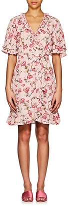 By Ti Mo byTiMo Women's Stem Roses-Print Crepe Wrap Dress