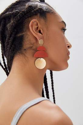 Urban Outfitters Jana Wood Statement Drop Earring