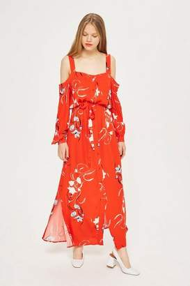 Topshop Yas Floral maxi dress