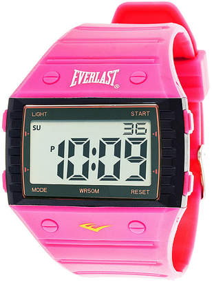 Everlast Womens Pink Silicone Strap Digital Sport Watch