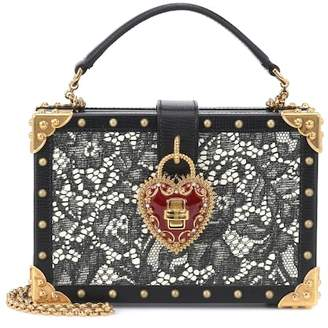 4d91582613d0 Dolce   Gabbana My Heart leather box clutch