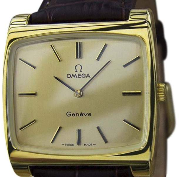 Omega Omega Geneve Gold Plated / Leather 38mm Mens Watch