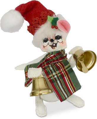 Annalee Plaid Tidings Jinglebell Mouse Figurine