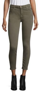 7 For All Mankind Twill Skinny Ankle Jeans $169 thestylecure.com