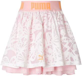 Puma X Sophia Webster patterned layered skirt